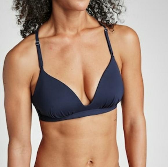 4aaa5e2087d9e Athleta Swim | Prism Back Molded Bikini Top Navy Med | Poshmark